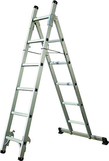 Tech Craft itcmfl 3 – 1 Escalera multifunción 11 niveles de Articulación – Escalera escalera Andamio aluminio escalera, Capacidad de Carga hasta 150 kg: Amazon.es: Bricolaje y herramientas