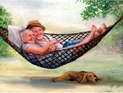 5D Diy Diamond Painting Cross Stitch Happy Old Couple Embroidery Wall Art Decor