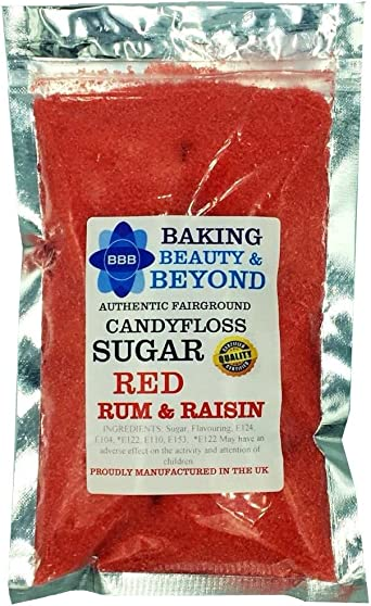 100 g de azúcar de hilo de caramelo listo para máquina profesional, 51 sabores a elegir (ron y pasa)