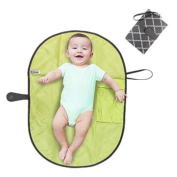 6ec9047c6 Pawaca portátil cambiador, impermeable Cambiador bebe portatil para cambiar  de pañales o ropa al bebé, Kit Cambiador de Viaje, Bolso cambiador bebe de  mano ...