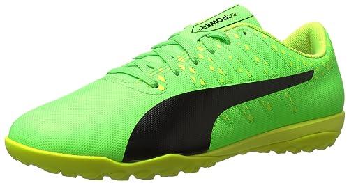 40b1d07db PUMA Men s Evopower Vigor 4 TT Soccer Shoe Green Gecko Black-Safety Yellow