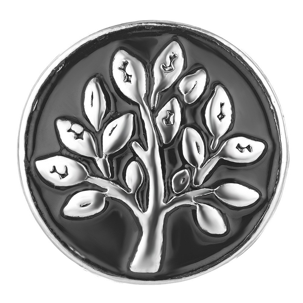 Vocheng Wholesale Snap Jewelry Family Tree 18mm Black Painted Vn-1697 Pack of 20pcs