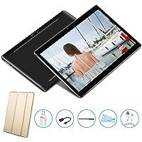Tablet PC 10 offerte Quad Core, Tablet 10 pollici offerte Android 7.0 V Mobile,Dual schede SIM Supporto chiamate 3G, RAM 2 GB, Memoria Espandibile 32 GB,Wlan /Wifi,GPS,OTG -Nero