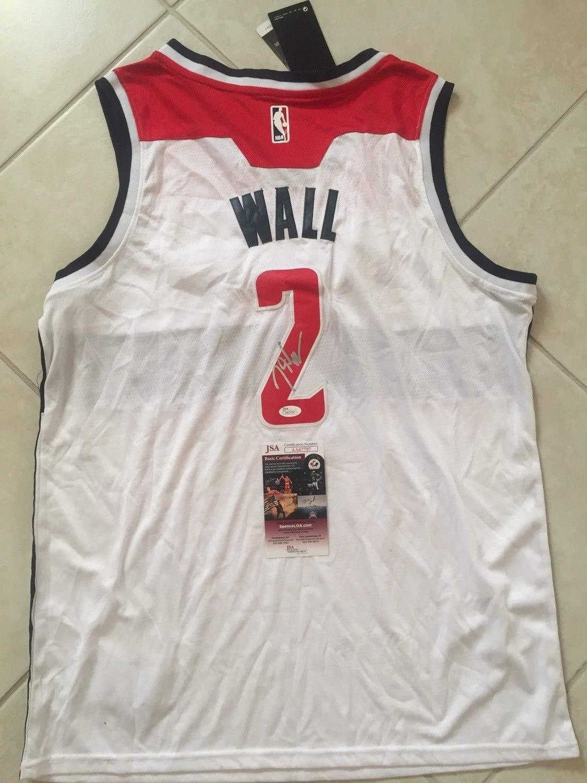 half off 3e735 40588 John Wall Autographed Signed Washington Wizards Jersey - JSA ...