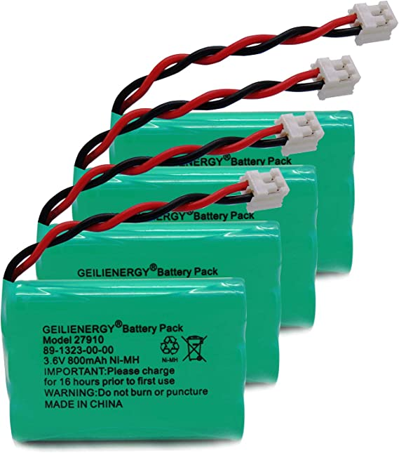 Kruta 27910 Cordless Phone Battery Pack Compatible with AT/&T 89-1323-00-0 Motorola SD-7501 Vtech 27910 I6725 RadioShack 23-959 Home Handset 3.6V Ni-MH Pack 4