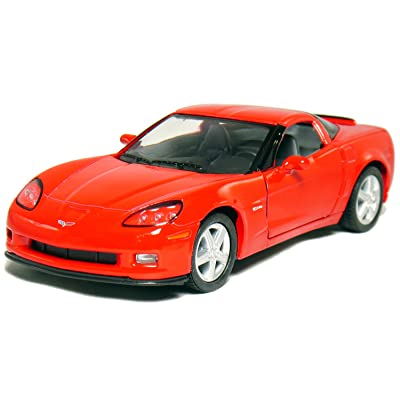 "Kinsmart 5"" 2007 Corvette Z06 1:36 Scale (Red): Toys & Games"
