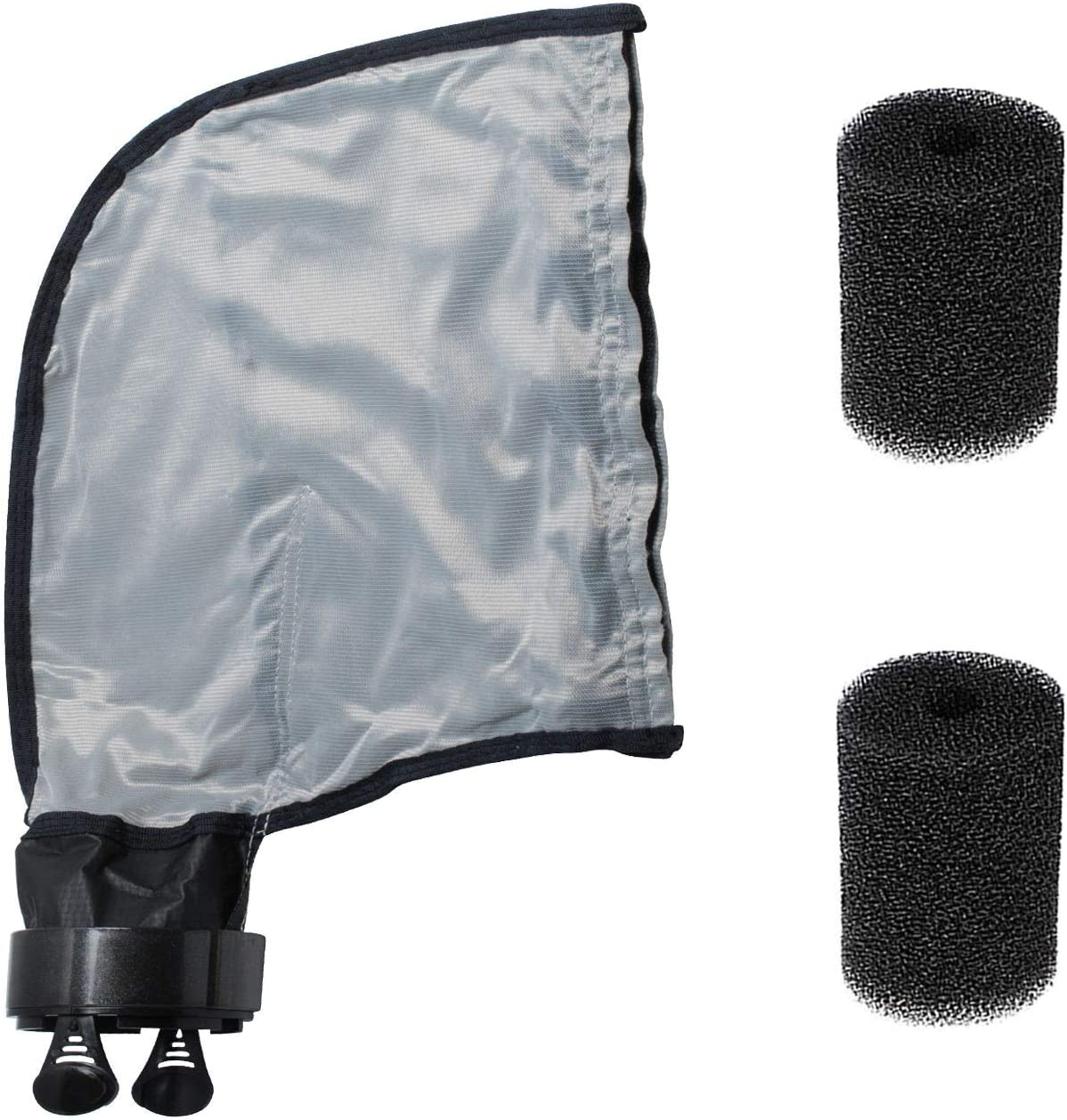 39-310 Zipper Bag for Compatible with Polaris 3900 Pool Cleaner, accommodate 5 Liters Capacity with 9-100-3105 Sweep Hose Scrubber Replace Gray Double Superbag