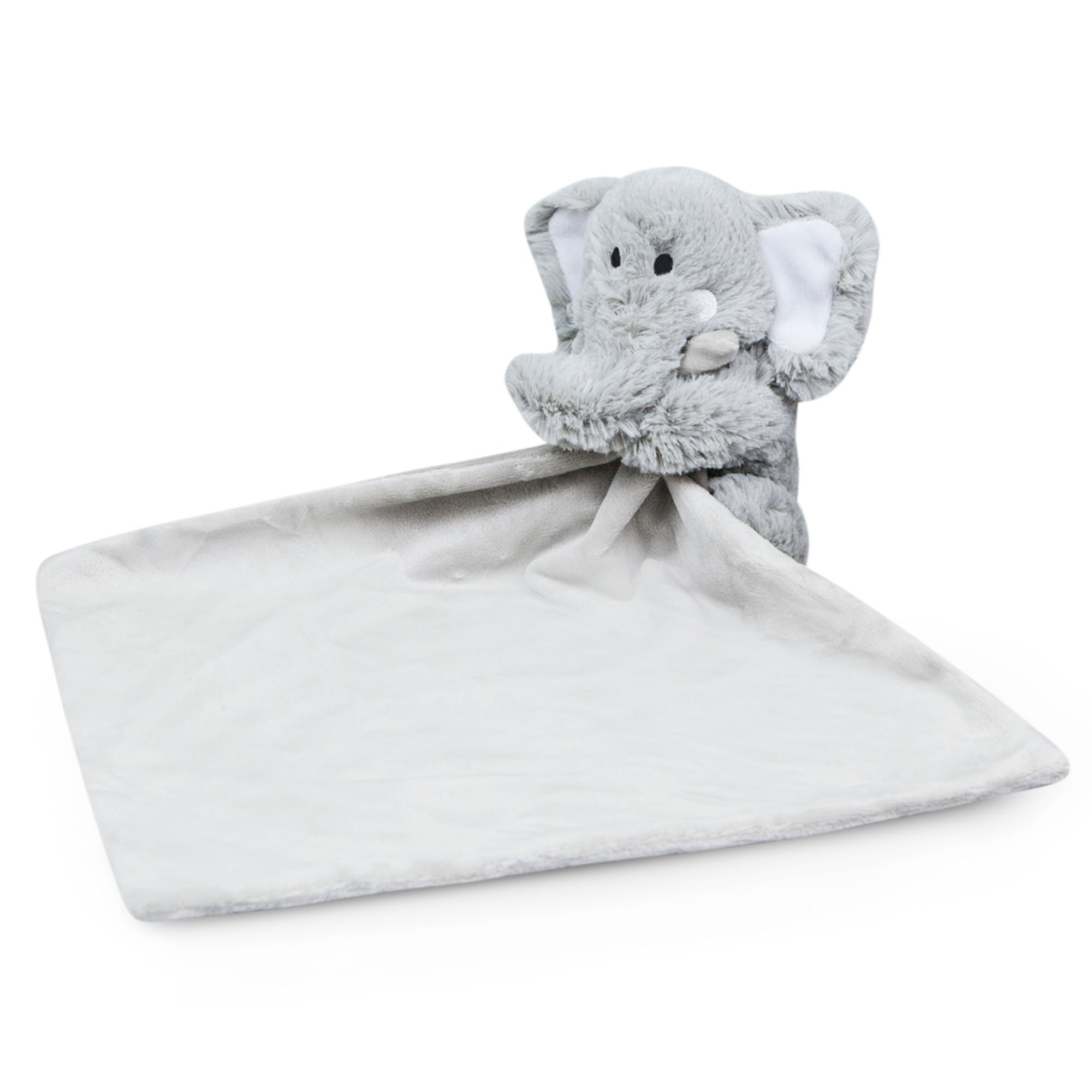 Waddle Favorite Plush Elephant Baby Security Blanket Best Lovey Stuffed Animal Rattle Toy Nursery Decor Grey (Gray)