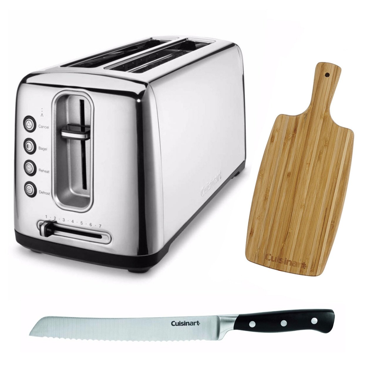Cuisinart CPT-2400 The Bakery Artisan Bread Toaster + Free Bread Knife and Cutting Board