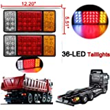 Zimo® 2 Pc Piloto Trasero para Remolque Camiones Coches 12V 36 LED Luces Faro Trasero Coche