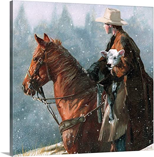 David Stoecklein Horses in the Snow Quality Western Horse Print Poster 24x18