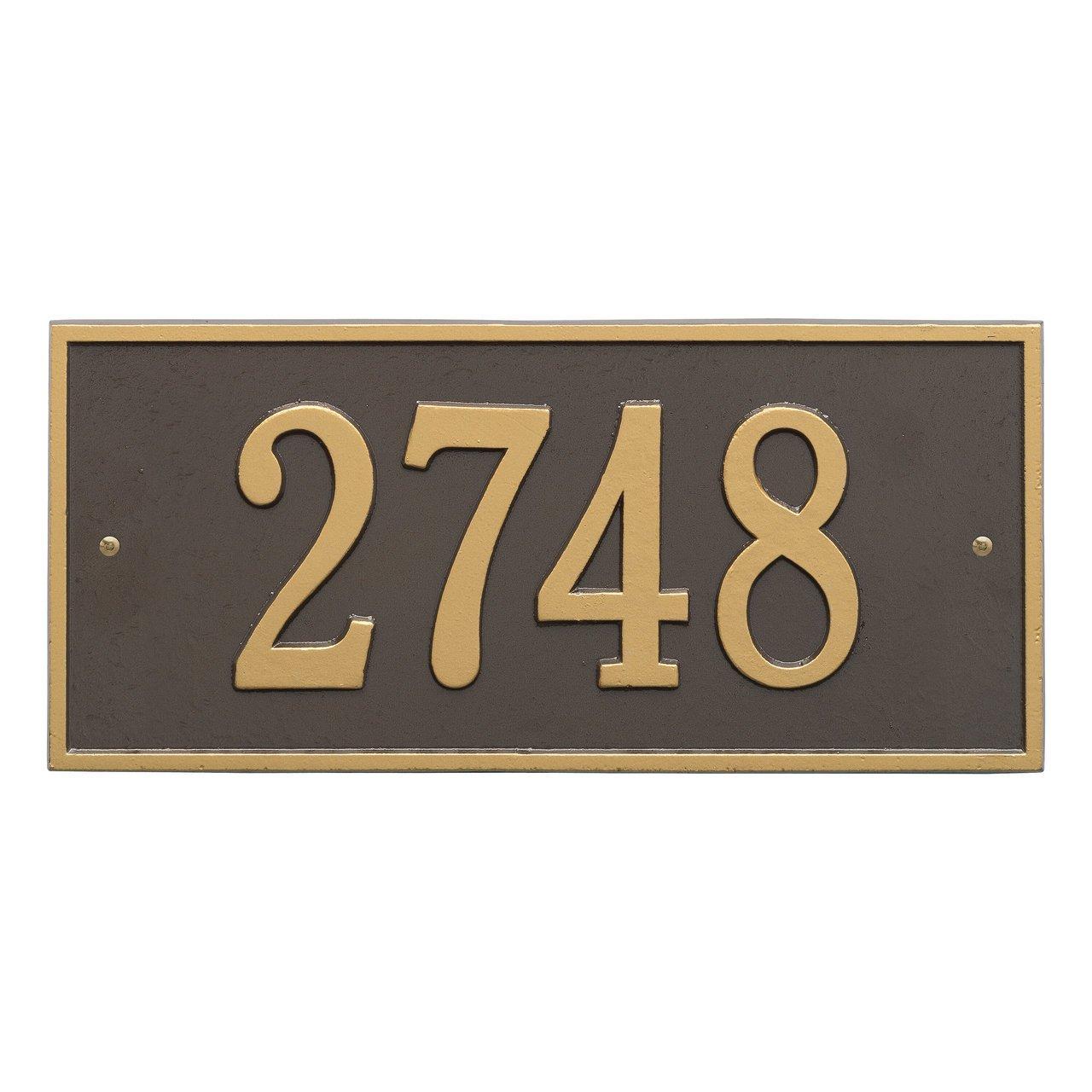 カスタムハートフォードアドレスPlaque 2線16