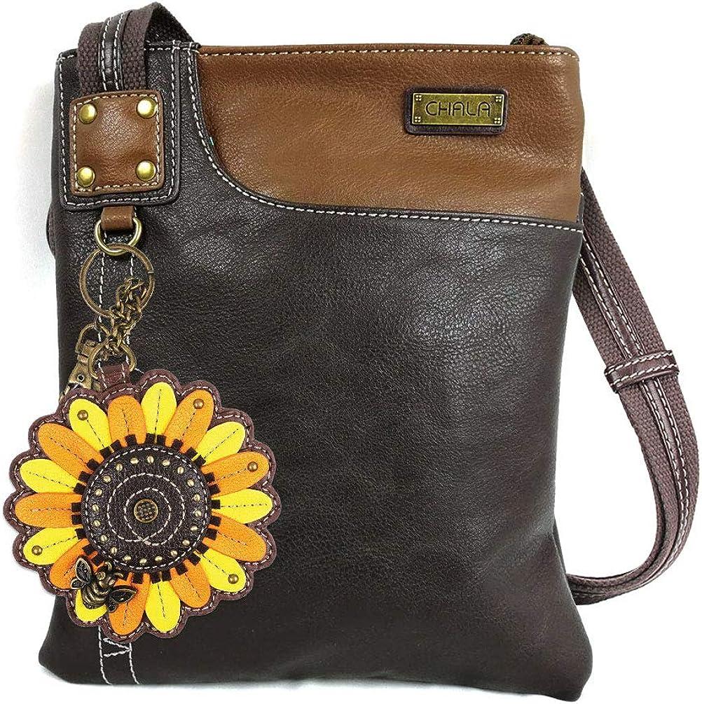 Chala Crossbody Phone Purse | SOFT PU Leather SWING Bag with Chala Mini Key fob
