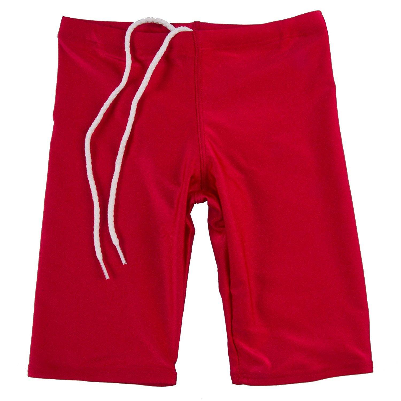 GaryM Kids Boys Solid Jammer Swim Suit Size 7-14 2255