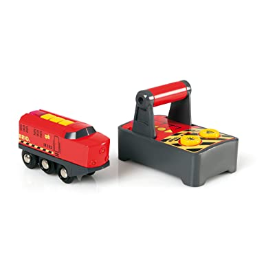 BRIO World - 33213 Remote Control Train Engine | 2 Piece Train Toy for Kids Ages 3 and Up: Toys & Games