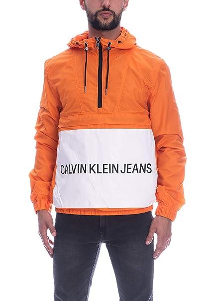 best website a0f3d ec6d1 Calvin Klein Giacca Antivento Manica Lunga Uomo Arancione ...