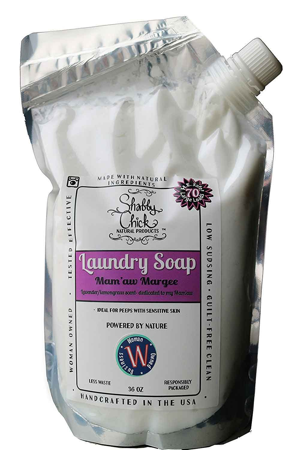 Natural Laundry Detergent - 70 Loads | Hypoallergenic for Sensitive Skin | Kid, Baby, & Pet Safe - Handcrafted in the USA, Lavender Lemongrass by Shabby Chick