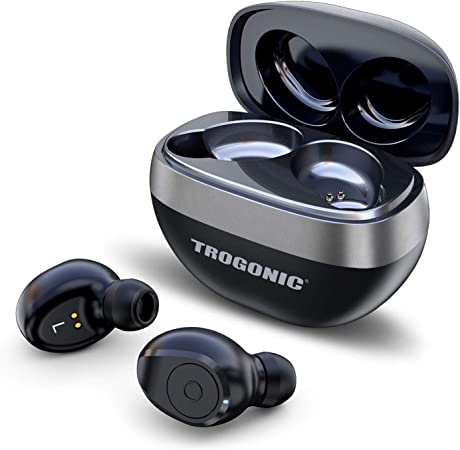 Trogonic TE1 True Wireless Earbuds, TWS 5.0 IPX 5 Sweatproof Bluetooth Earbuds Stereo Headphones in-Ear Built-in Mic Headset Premium Sound with Deep Bass for Sport