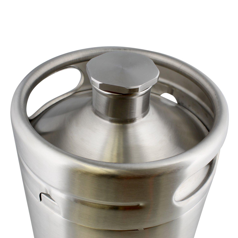 Water Coffee G Francis Wine Keg Draft Beer Growlers for Beer 64 Ounce Stainless Steel Mini Keg Growler Wine Soda