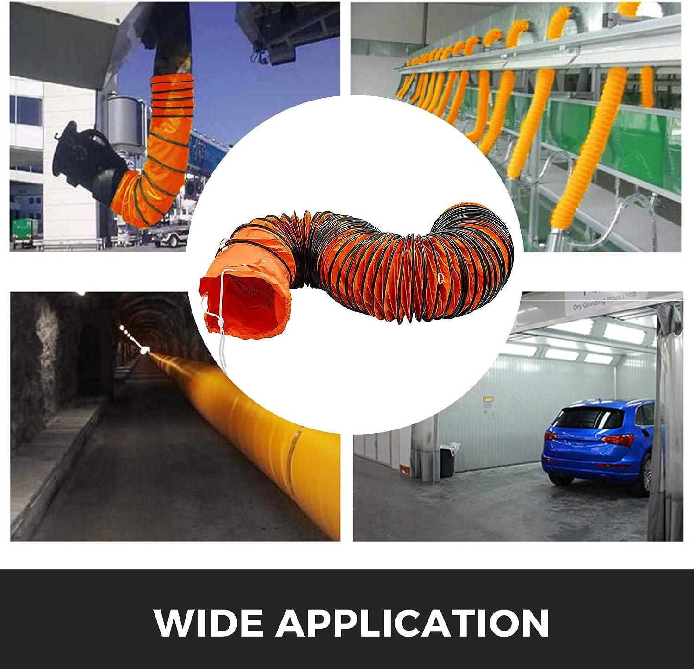 Frantools Lufttransportschlauch PVC Warmluftschlauch L/änge 7,6 M Durchmesser 457 mm Bel/üftungsschlauch