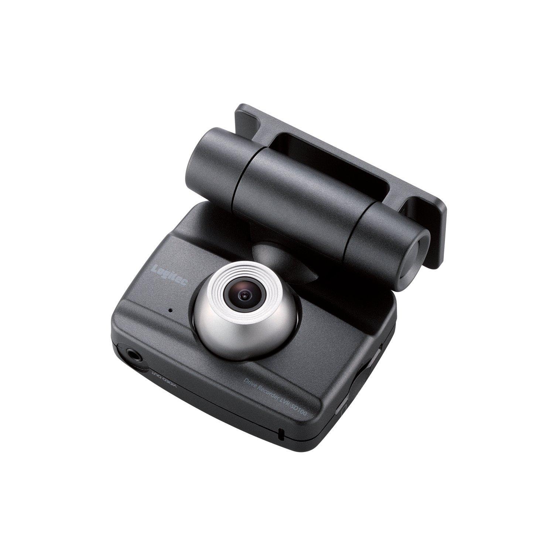 Logitec ドライブレコーダー 常時録画+衝撃検知+手動検知 液晶ディスプレイ搭載 SDHCカード対応 LVR-SD100BK B004CIJ6TC