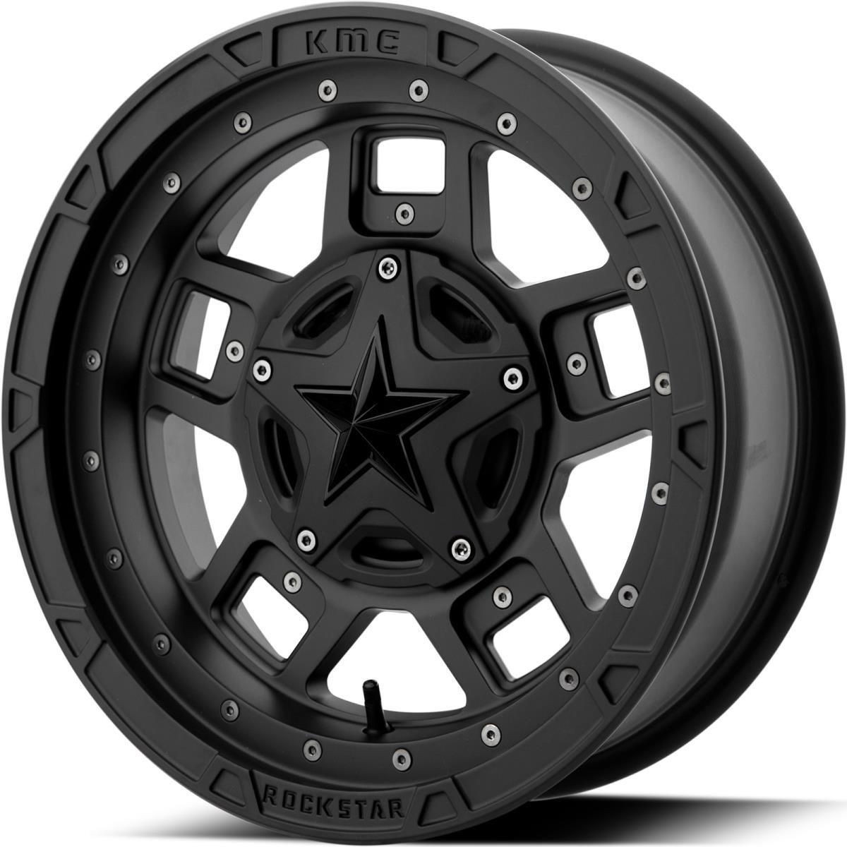 XD Series XS827 Rockstar 3 ATV/UTV 14x7 4x156 +0mm Matte Black Wheel Rim