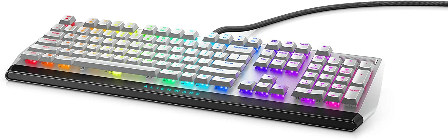 5 Onboard Profiles Per-Key White LED Nkro Alienware Mechanical Gaming Keyboard AW310K: Cherry MX Red Switches USB Passthrough /& Media Control