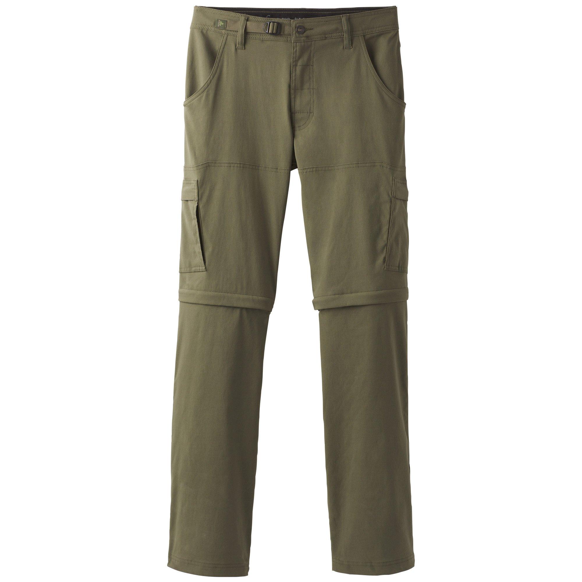 prAna Men's Stretch Zion Convertible 32'', Cargo Green, 28