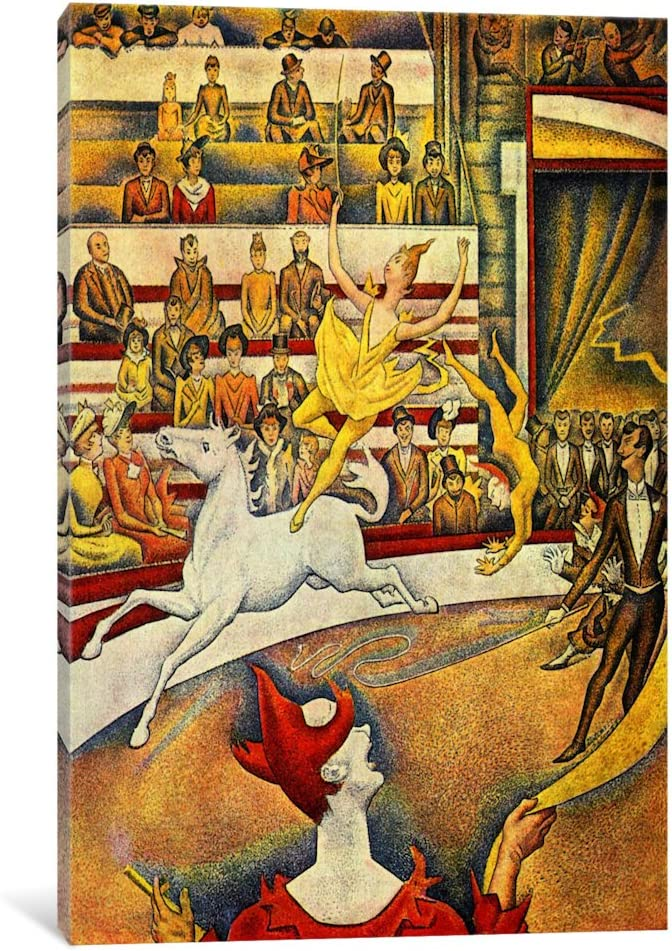 Amazon Com Icanvasart The Circus Canvas Art Print By Georges Seurat 18 By 12 Inch Posters Prints