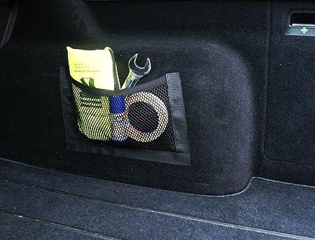 Ferocity Universale Netztasche Beutel Mit Klett Haftet An Kofferraum Organizer 25 X 18 Cm 031 1 Auto