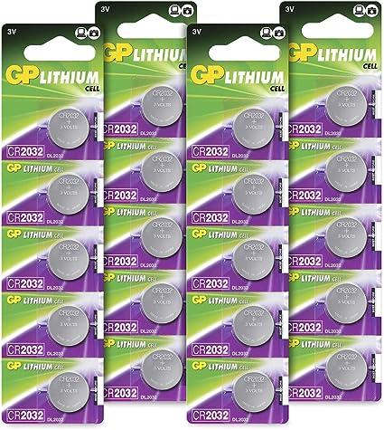Gp Batteries Extra Lithium Knopfzellen Cr2032 3v 20 Elektronik