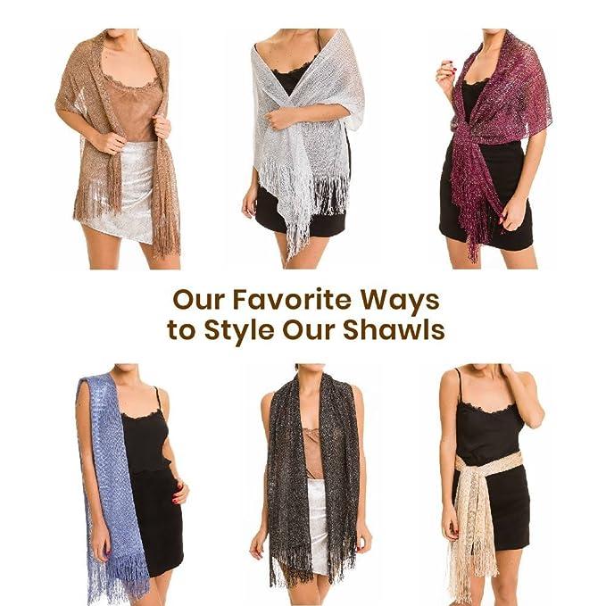 Shawl Wrap Fashion Scarf for Women: Evening Dresses, Wedding, Party, & Bridal ... (Black): Amazon.co.uk: Clothing
