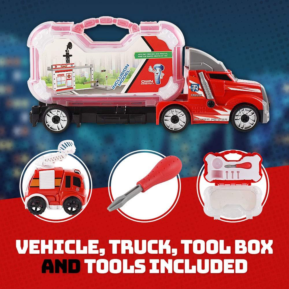 Fireman Command Center Construction Playset w// Screwdriver for Kids /& Children WolVol Take-A-Part Fireman Station