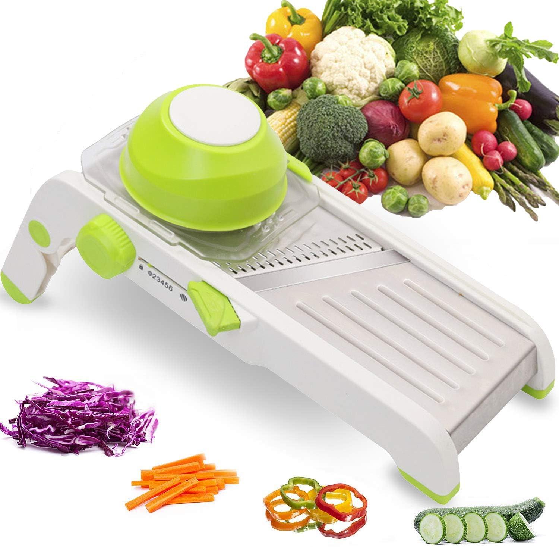 Professional Mandoline Slicer Cutter Chopper and Grater, Adjustable Thicknesses Stainless Steel Vegetable Veggie Slicer for Potato, Cheese, Onion Shredder Food Slicer