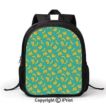 Amazon.com: Mochila escolar con diseño de plátanos ...