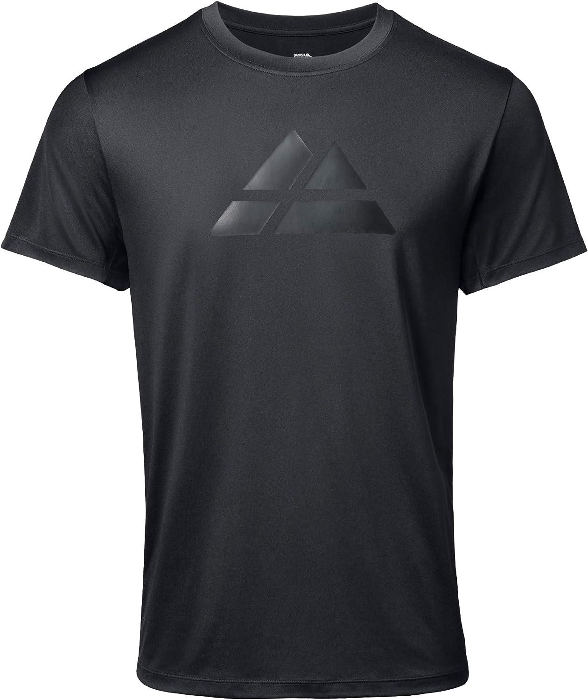 DANISH ENDURANCE Men's Active T-Shirt for Sport, Fitness, Workout & Running, Short-Sleeved Gym Wear, Moisture-Wicking