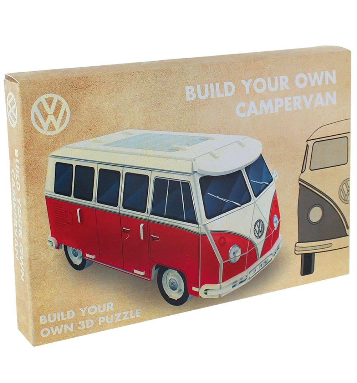 best Brisa PP2646VW Puzzle 3D VW Combi, Rouge/Blanc, 28 Pièces