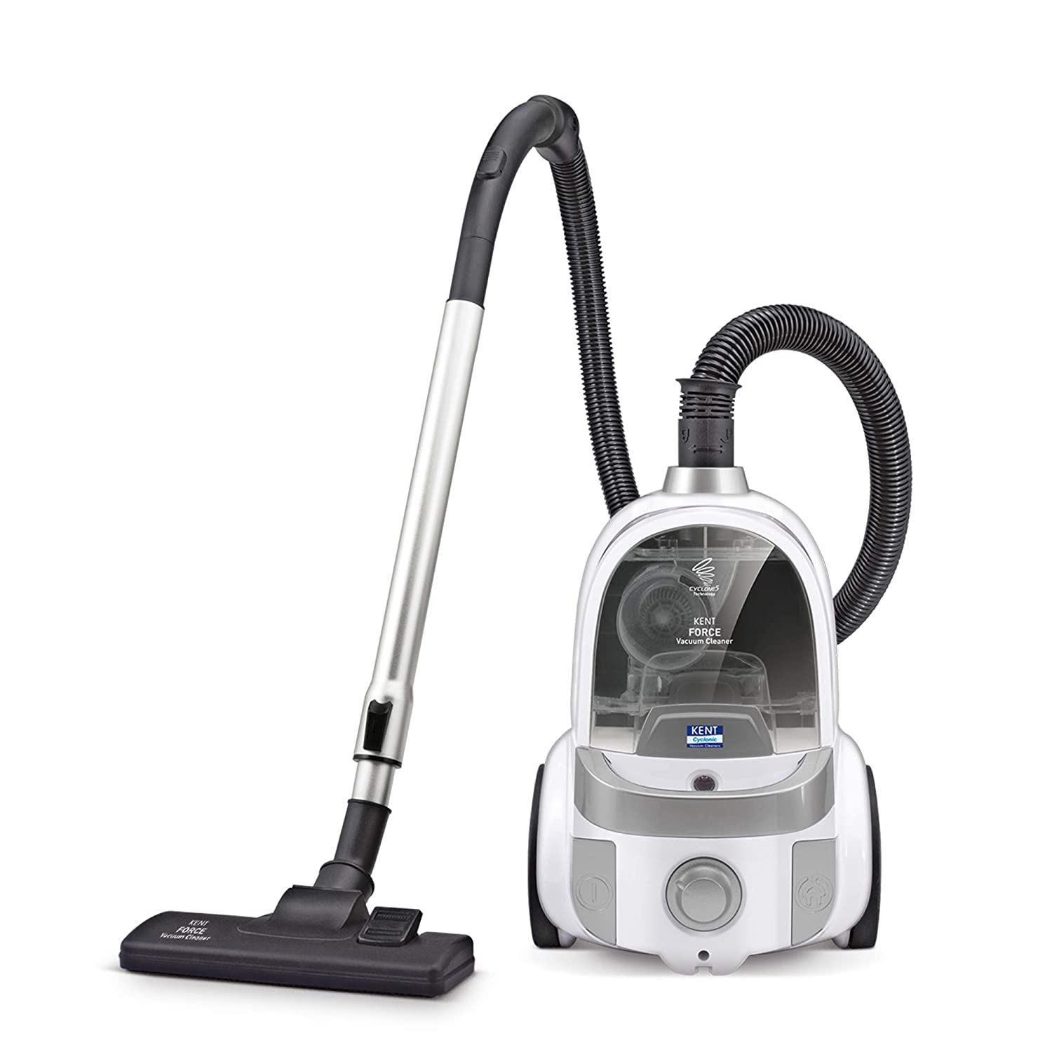 Refurbished Kent Force Cyclonic Vacuum Cleaner 2000-Watt (White and Silver) kida.in