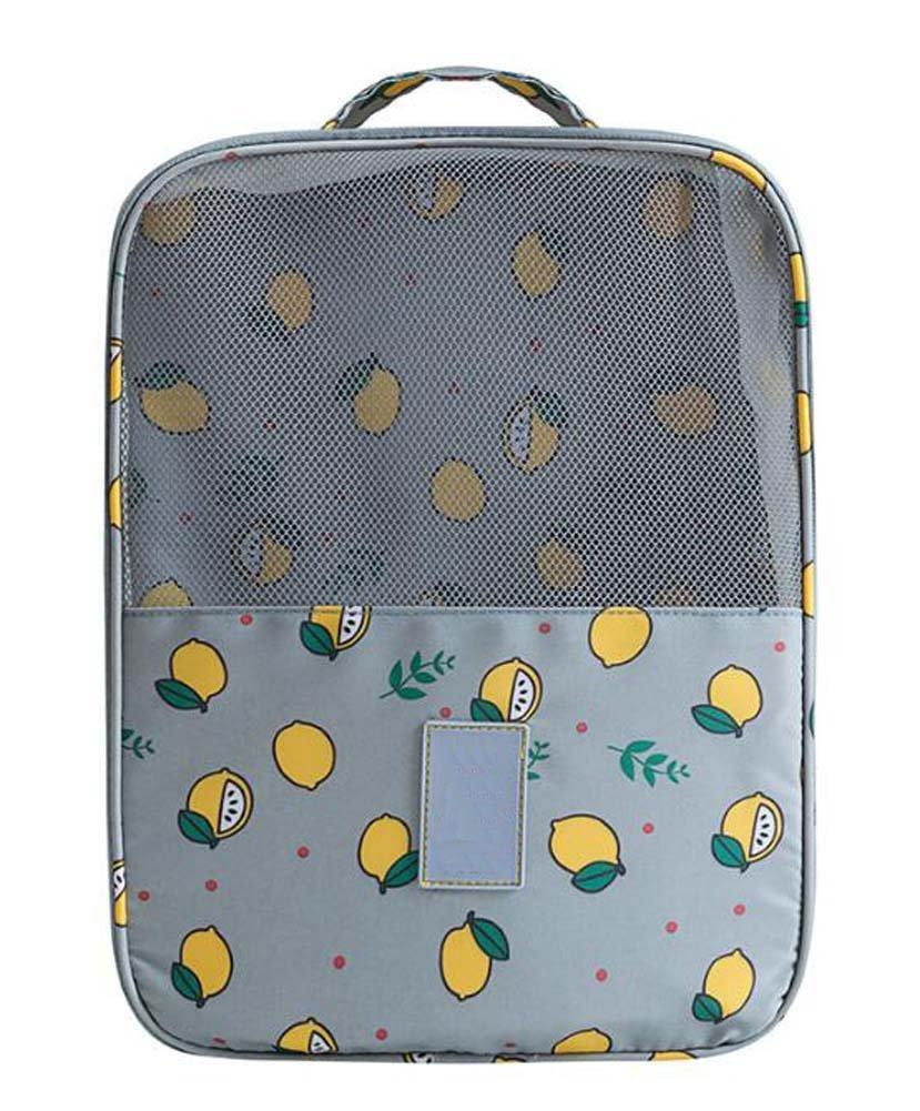 美しい実用的Shoeボックス旅行靴ストレージバッグポータブル靴バッグ、グレー   B075FSMYQ9