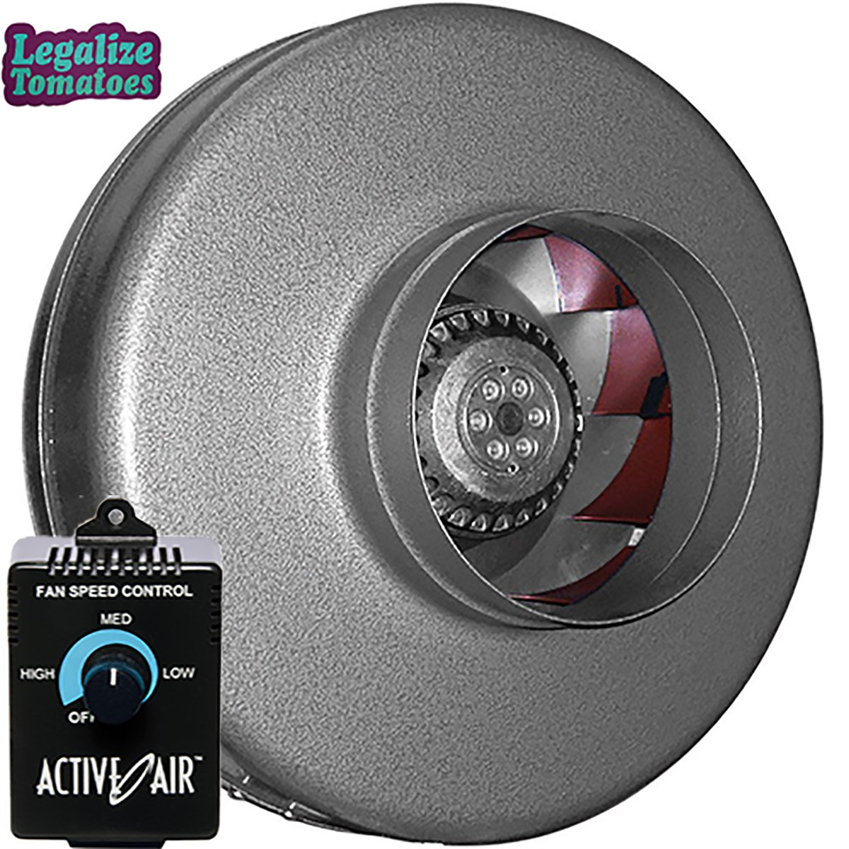 Vortex 6'' Inch 497 CFM Inline Power Fan | FREE Active Air Controller and FREE Sticker | VTX Series Round Centrifugal Fan | Aerodynamic Design for Optimized Cooling and Airflow | Maintenance-Free