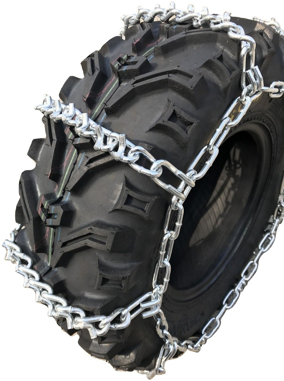 TireChain.com ATV UTV 4-Link, Tire Chains 812 V Bar 23x10-12, 24x11-11, 25x8-10, 25x8-11, 25x8-12, 26x8-12, Priced per Pair
