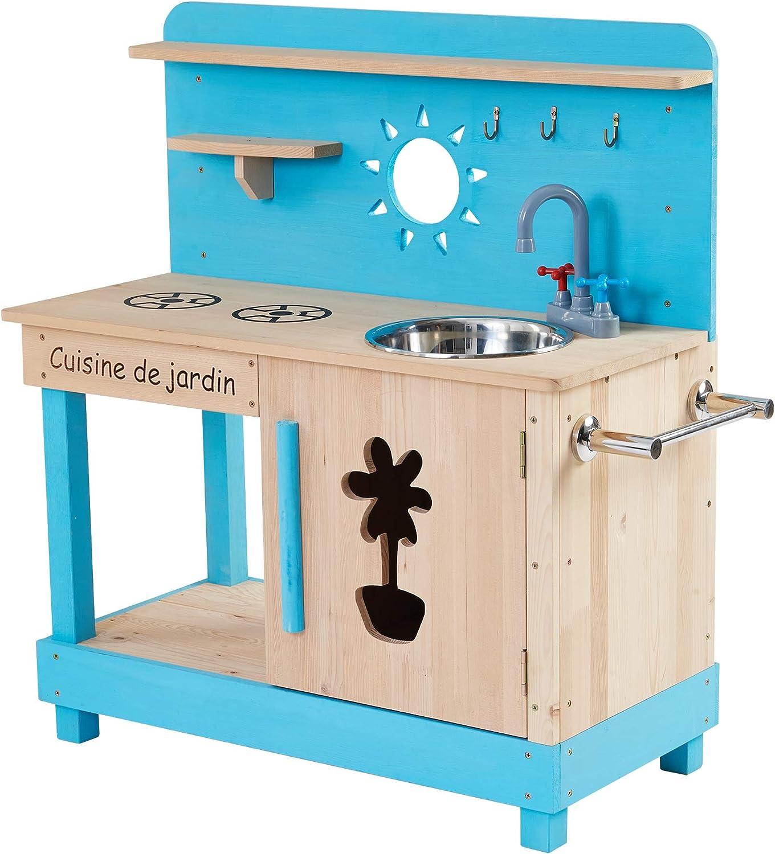 TDF-00005 Teamson Kids Cocina de Juego al Aire Libre Little Chef Mud-Aqua//Madera Color