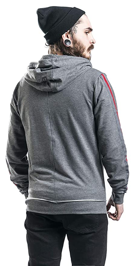 Assassins Creed Odyssey - Taped Sleeve Sudadera Capucha con Cremallera Gris/Melé: Amazon.es: Ropa y accesorios