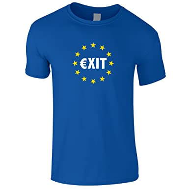 d804cea61 Brexit Gents T Shirt Vote Out The EU T Shirt Your Name Printed Free.:  Amazon.co.uk: Clothing