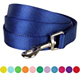 Blueberry Pet Durable Classic Solid Color Dog Lead 150 cm x 1.5cm in Royal Blue, Small, Basic Nylon Leads for Dogs, Matching Collar & Harness Available Separately
