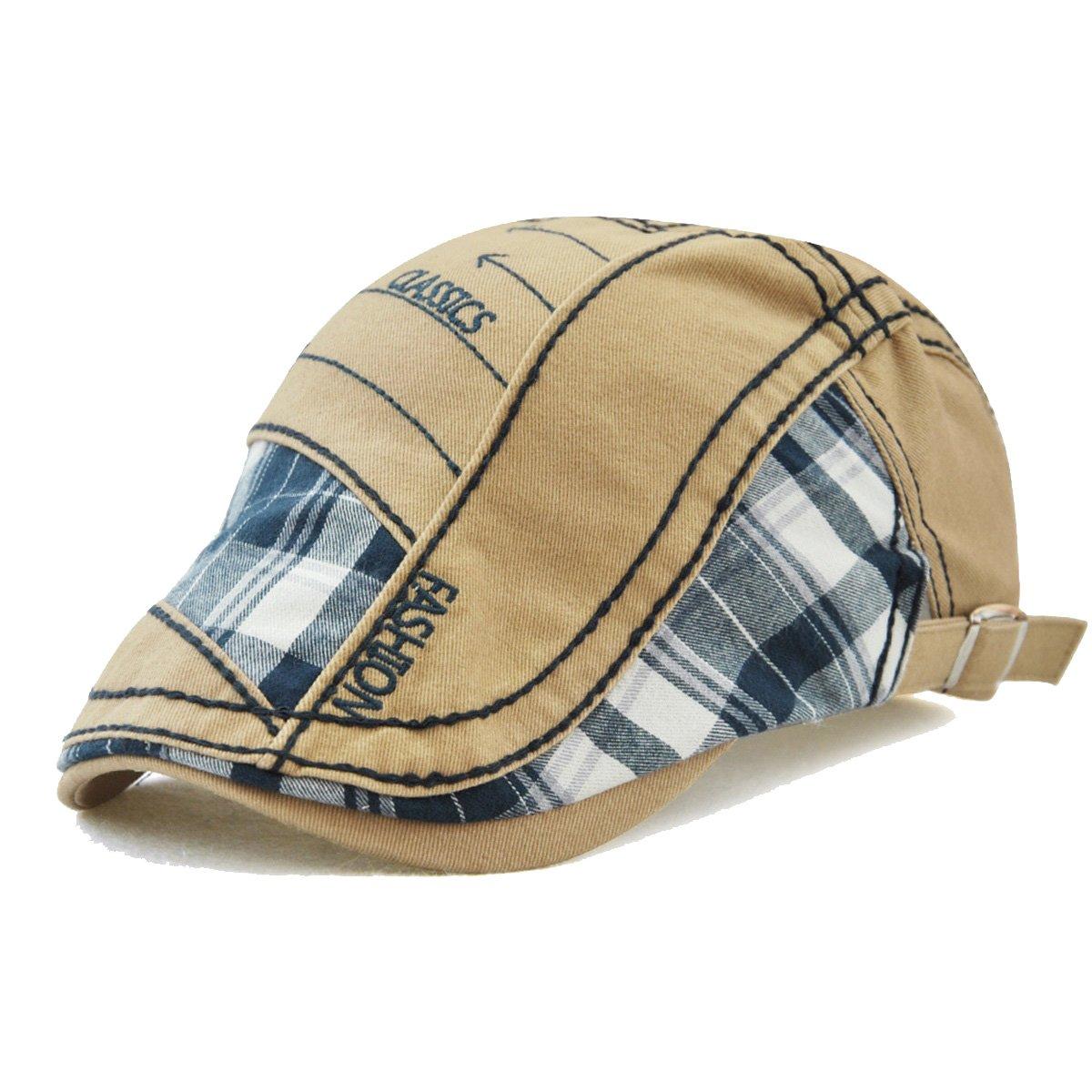 FayTop Men's Cotton Flat Cap Newsboy Ivy Irish Cabbie Scally Cap Cabbie Driving Caps Hats E90-New-US