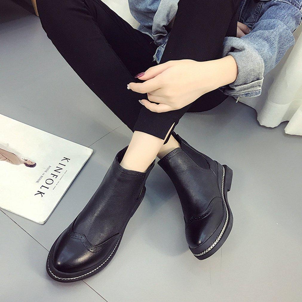 Welldone2017 Stivali Stivali Stivali Chelsea Donna, Nero (Nero), 36 c19e2e