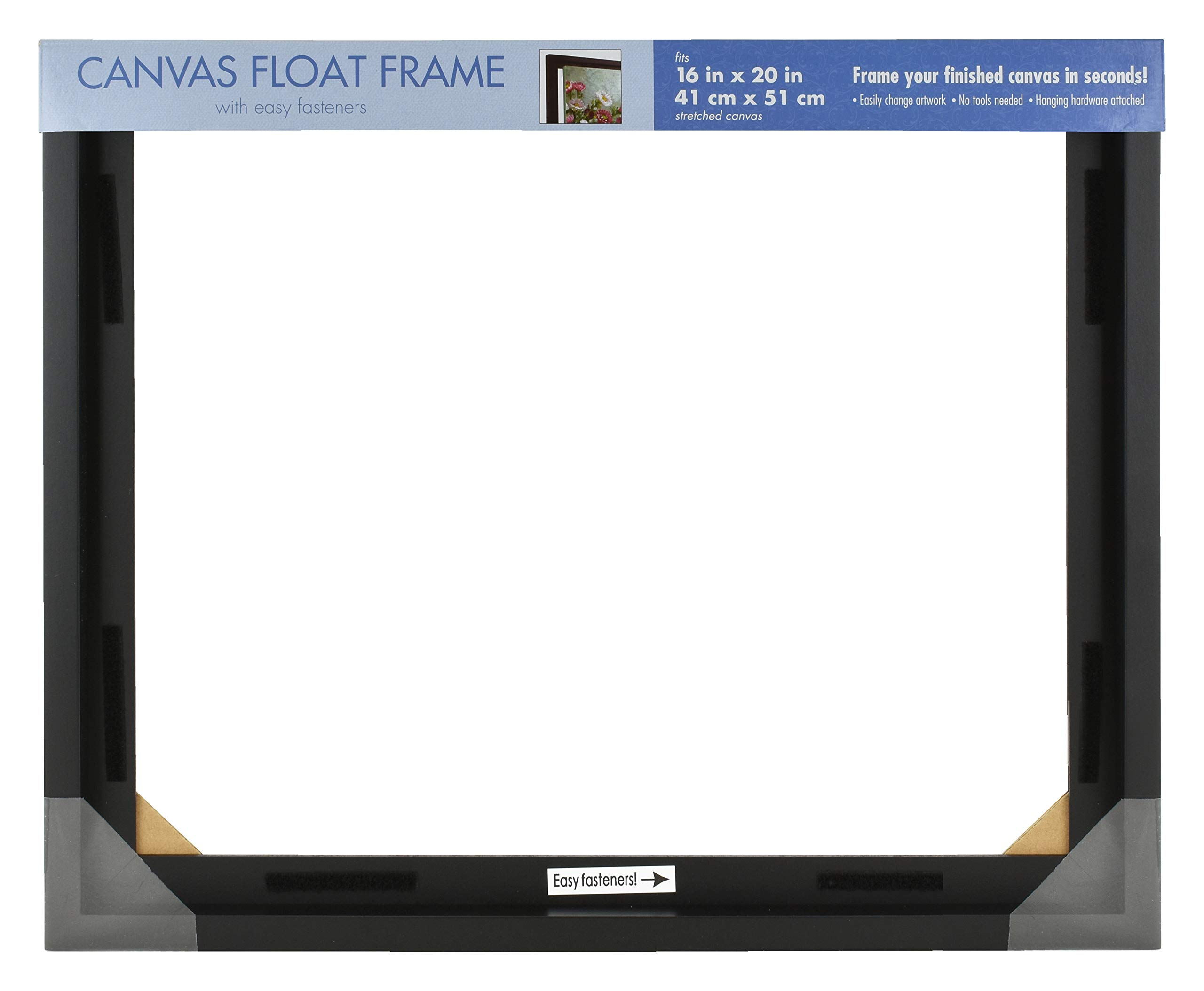 MCS 16x20 Inch Mount Finished Canvases, Black (69037) Frame, 16 x 20 Inch, by MCS