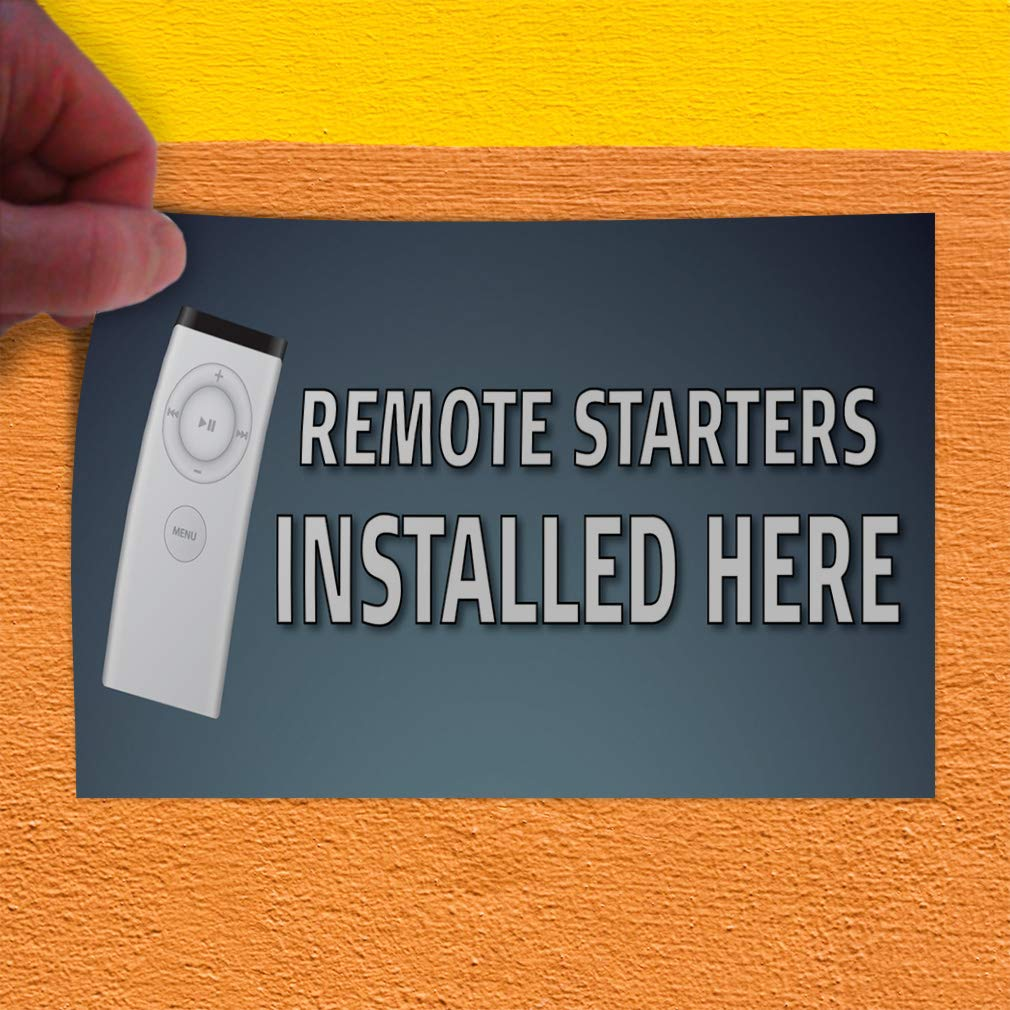 Decal Sticker Multiple Sizes Remote Starters Installed Here Business Style U Business Remote Starters Installed Here Outdoor Store Sign Grey Set of 5