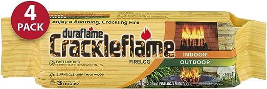 6-Pack Duraflame Crackleflame 4 lb Firelogs Outdoor Recreation ...